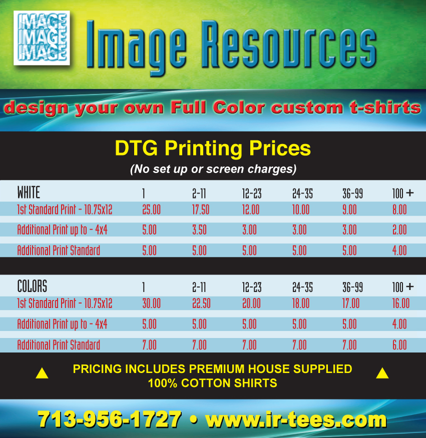 Direct Pricing: On Demand T-Shirt Printing Services